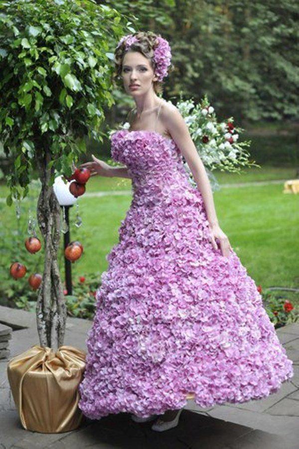 Украсить платья цветами своими руками