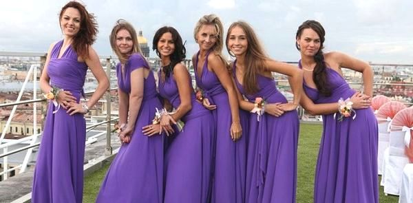 Из какой ткани шить платье для подружек невесты