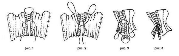 Как шнуровать свадебное платье и корсет атласной лентой
