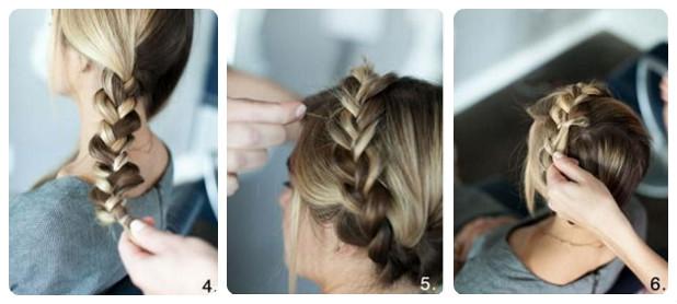 Свадебная прическа греческая коса 6