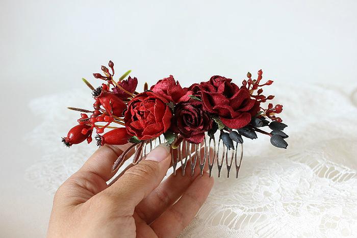 Свадебная прическа с гребнем для волос 8