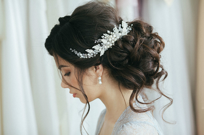 Свадебные украшения для волос своими руками 4