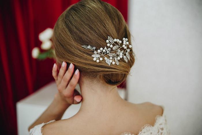 Свадебные украшения для волос своими руками 9