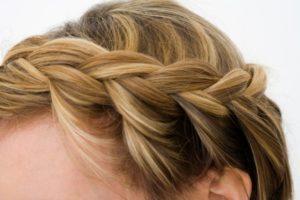 Свадебная прическа греческая коса 4