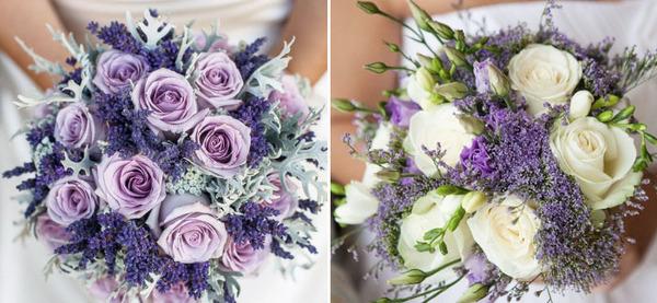 Букет невесты с лавандой на свадьбу: фото