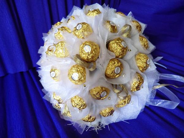 Букет на золотую свадьбу своими руками купить цветы в рассаде