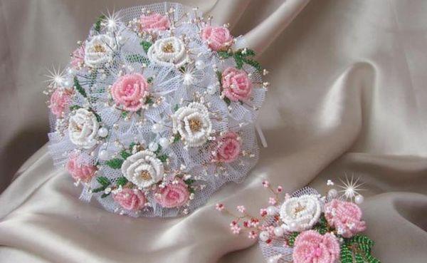 Свадебный букет из бисера своими руками – мастер-класс