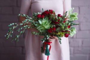 свадебный букет с эвкалиптом 2
