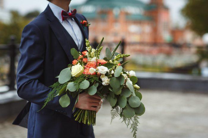 свадебный букет с эвкалиптом 1