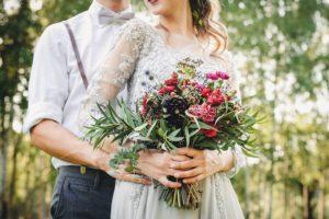 свадебный букет с эвкалиптом 5