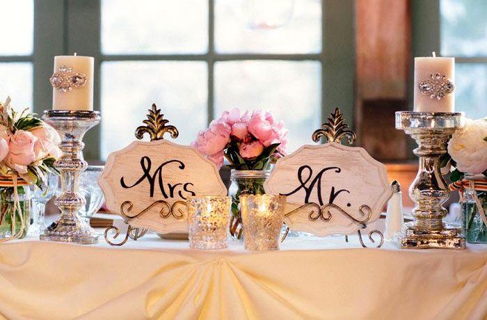 оформление президиума на свадьбу 3