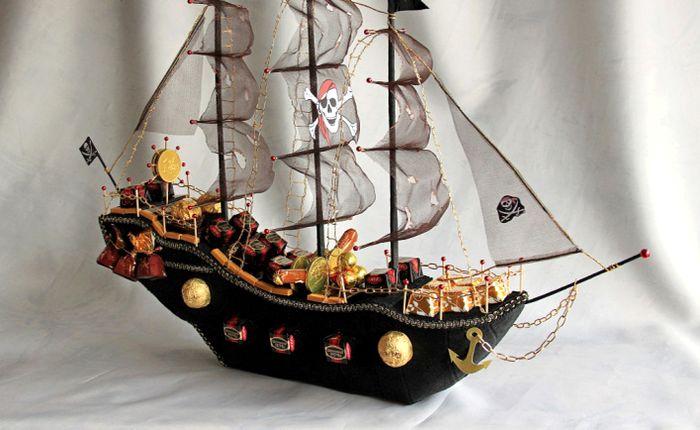 Корабль из конфет на свадьбу 2