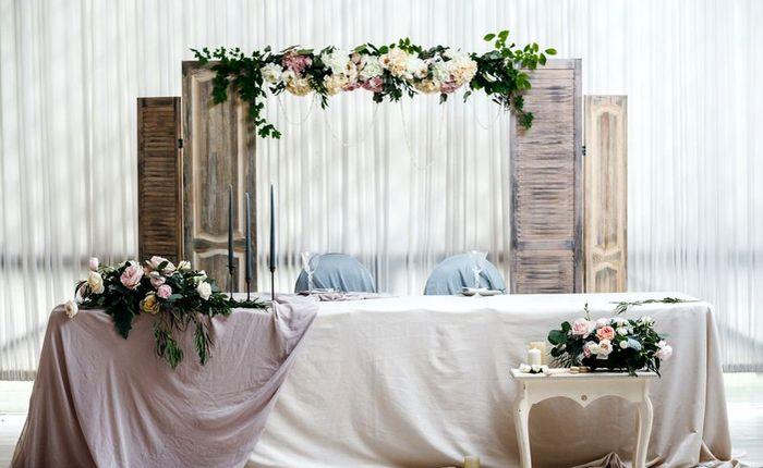оформление президиума на свадьбу 9