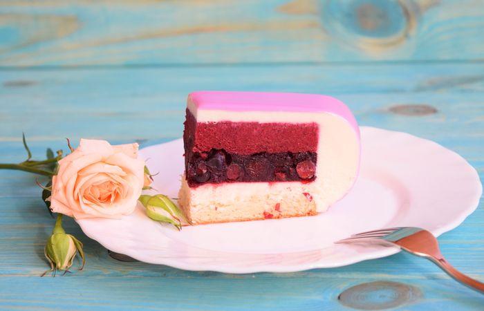 свадебный муссовый торт 2