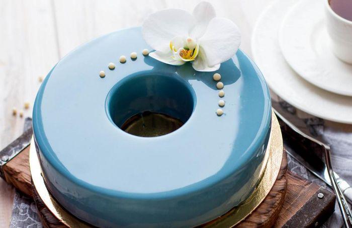 свадебный муссовый торт 4