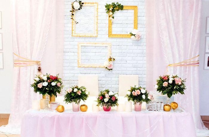 оформление президиума на свадьбу 7