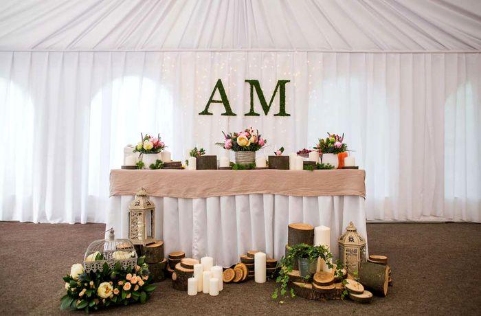 оформление президиума на свадьбу 8