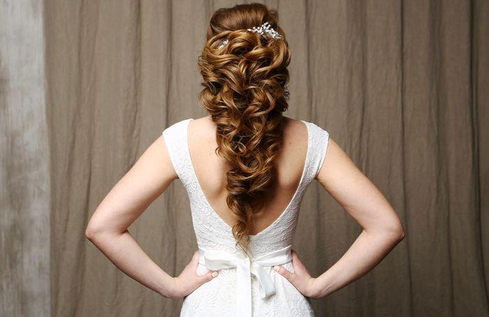 Свадебная прическа греческая коса 23